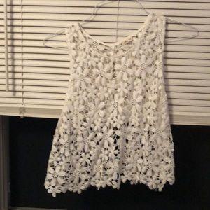White Floral Crop-Top